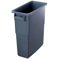 EcoSort Recycling System Midi Bin, 60 Litre, Anthracite Grey