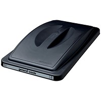 EcoSort Recycling System Waste Lid for General Waste - Black