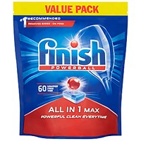 Finish Dishwasher Powerball Tablets All In 1 - Pack of 60