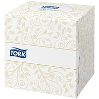 Tork Facial Tissues Cubes, 2-Ply, White, 100 Sheets per Cube, 30 Cubes