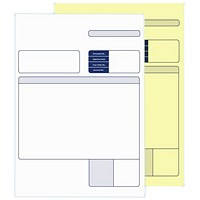Sage Compatible Multipurpose Form, 2 Part, White & Yellow, Laser or Inkjet, Pack of 500