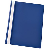 Esselte A4 Report Flat Files, Dark Blue, Pack of 25