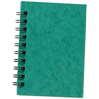 Silvine Hardcover Twinwire Notebook, A6, Perforated, Ruled, 192 Pages, Pack of 12