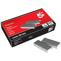 5 Star 24/6mm Staples - Box of 5000