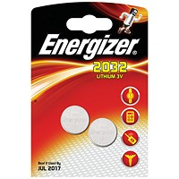 Energizer CR2032 Lithium Battery for Small Electronics, 5004LC, 240mAh, 3V, Pack of 2