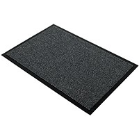 Floortex Door Mat, Dust & Moisture Control, Polypropylene, 900mmx1200mm, Grey