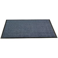Floortex Door Mat / Dust & Moisture Control / Polypropylene / 900mmx1500mm / Blue