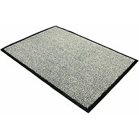 Floortex Door Mat, Dust & Moisture Control, Polypropylene, 600mmx900mm, Grey