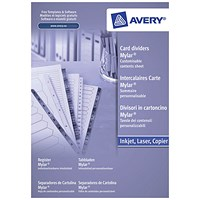 Avery Index Dividers, Unpunched, 1-5, A4, White, Pack of 20
