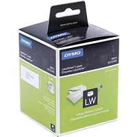 Dymo Labelwriter Labels Large Address Labels 36x89mm White Ref 99012 S0722400 [Pack 2x260]