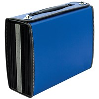 Concord Filing Case, Polypropylene, Indexed, 26-Part, A4, Blue