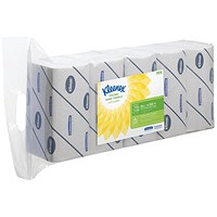 Kleenex Ultra Hand Towels, 2-Ply, White, 5 Packs of 124 Sheets