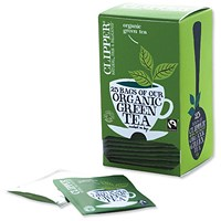 Clipper Organic Fairtrade Green Tea Bags - Pack of 25