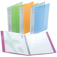 Rexel Ice Display Book, 20 Pockets, A4, Assorted Translucent Covers, Pack of 10