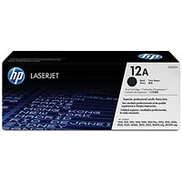 HP 12A Black Laser Toner Cartridge
