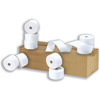 Cash Register Rolls, WxDxCore: 76x76x12.7mm, 2-Ply, Pack of 20