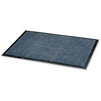 Floortex Door Mat / Dust & Moisture Control / Polypropylene / 900mmx1200mm / Blue