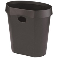 Avery DR500 Waste Bin, Rim Flat Back, 18 Litres, W350xD250xH340mm, Black