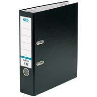 Elba A4 Lever Arch Files, PP, Black, Pack of 10