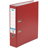 Elba A4 Lever Arch Files, PP, Red, Pack of 10