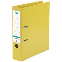 Elba A4 Lever Arch Files, PVC, Yellow, Pack of 10