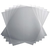Durable Polypropylene Report Covers, Clear, A3 Folds to A4, Pack of 50