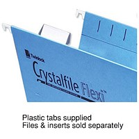 Rexel CrystalFiles Flexi Suspension File Tabs, Clear, Pack of 50