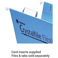 Rexel CrystalFiles Flexi Suspension File Card Inserts, White, Pack of 50