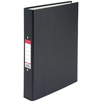 Everyday Ring binder, A4, 2 O-Ring, 25mm Capacity, Black, Pack of 10