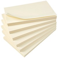 Everyday Sticky Notes, 76x127mm, Yellow, Pack of 12
