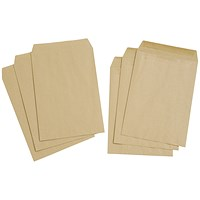 Everyday C4 Pocket Envelopes, Manilla, Press Seal, 80gsm, Pack of 250