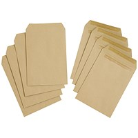 Everyday C5 Pocket Envelopes, Manilla, Press Seal, 80gsm, Pack of 500