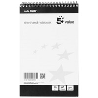 Everyday Shorthand Pad, 127x200mm, Ruled, 80 Sheets, Pack of 10