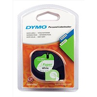 Dymo LetraTag Tape Paper 12mmx4m Pearl White Ref 91200 S0721510
