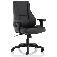 Trexus Hampshire Leather Managers Chair - Black