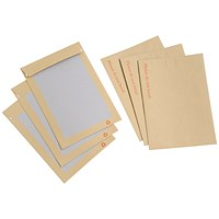 Everyday C4 Board-backed Envelopes / Peel & Seal / Manilla / Pack of 125