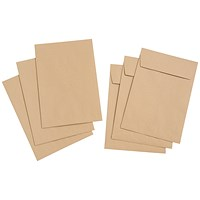 Everyday C4 Gusset Envelopes, Peel & Seal, 25mm Gusset, Manilla, Pack of 125