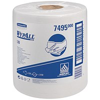 Wypall L10 Centrefeed Wiper Refills, 1-Ply, White, 6 Rolls of 525 Sheets
