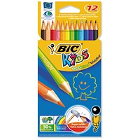 Bic Kids Evolution Colouring Pencils, Vivid Assorted Colours, Wallet of 12