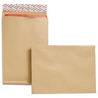 New Guardian Heavyweight C4 Gusset Envelopes, 25mm Gusset, Peel & Seal, Manilla, Pack of 25