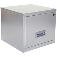 Pierre Henry Steel Cube Filing Cabinet, 1 Drawer, A4, Silver