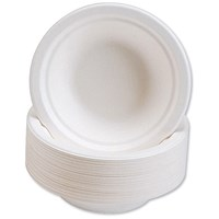 Biodegradable Microwaveable Rigid 12oz Bowls - Pack of 50