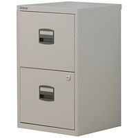 Trexus SoHo A4 Filing Cabinet, 2-Drawer, Grey