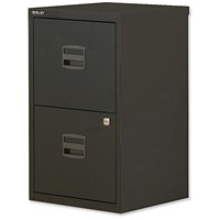 Trexus SoHo A4 Filing Cabinet, 2-Drawer, Black