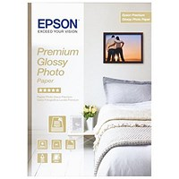 Epson A3 Plus Premium Glossy Photo Paper / White / 255gsm / Pack of 20