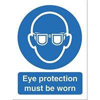 Stewart Superior Eye Protection Must Be Worn Sign - 150x200mm