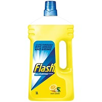 Flash All Purpose Cleaner for Washable Surfaces, Lemon Fragrance, 1 Litre