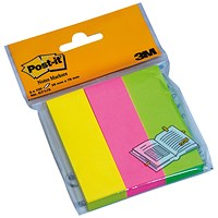 Post-it Note Markers - 100 each of Neon Yellow, Pink & Lime Green (3 x 100)