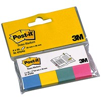 Post-it Note Markers - 50 each of Fuchsia, Jade Green, Turquoise & Neon Yellow (4 x 50)
