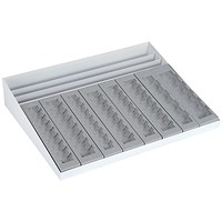 Coin Tray and Banknote Holder Metal Base and Styrene Trays